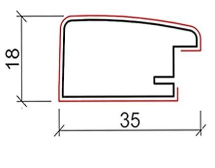 cornice per specchio fatta a mano della misura desiderata incl OLIMP 40 x 21 cm Specchio su misura con cornice colore cornice: Acero listello cornice: largo 38 mm e alto 18 mm specchio e stabile parete posteriore misura esterna cornice specchio: 400 m