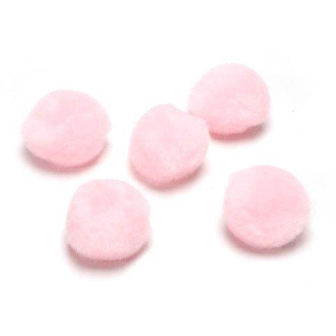 Darice DIY Crafts Acrylic Pom Poms Baby Pink 1 Inch 40 Pieces (3-Pack) (Pink Pom Pom)