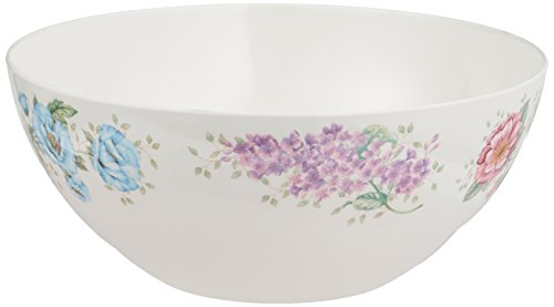 Lenox Butterfly Meadow Melamine Serving Bowl, Large, White ()