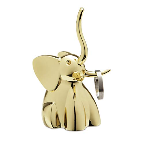 Umbra Zoola Elephant Ring Holder, - Gold Engagement Plated Ring