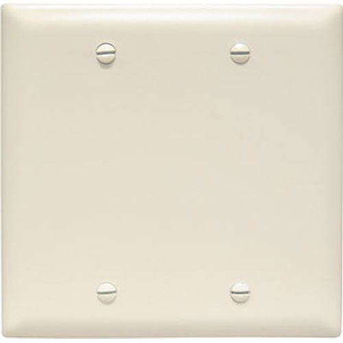 Legrand - Pass & Seymour TP23LACC12 Trade Master Nylon Blank Wall Plate - Box Mounted, Two Gang,  Easy Install, Light Almond