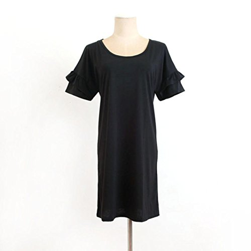 9d8d7fc05751 ... Kleid Transer® Damen V Neck Kleider Hausfrau Pyjama Täglich Sundress  Outdoor Indoor Sommer Kurzarm Chiffon ...