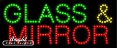 Glass & Mirror LED Sign - 27 x 11 x 1 inches - Made in USA by Bright Neon Signs