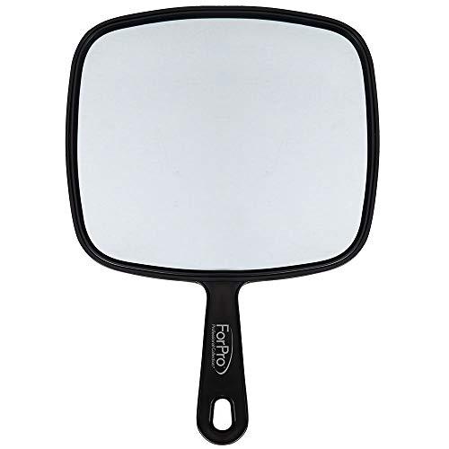 ForPro Large Hand Mirror, Black, 9 W x 12 L