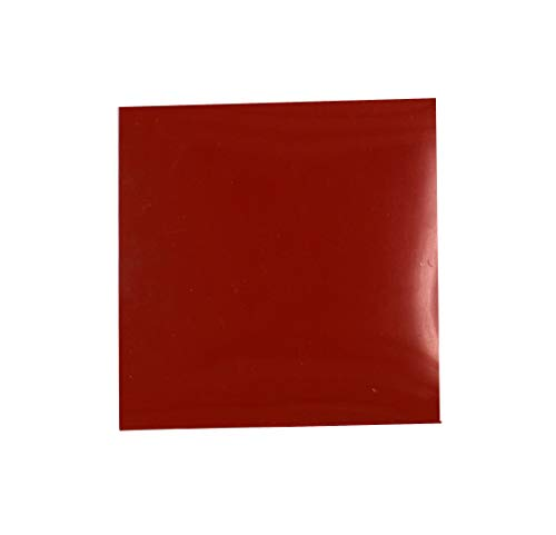 (Thick Silicone Rubber Gasket Sheeting, High Temperature No Backing Solid Red 1/8 by 6 by 6 inch)