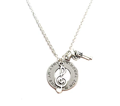 Jewelry by Jules Hamilton Musical Necklace Not Throwing Away My Shot