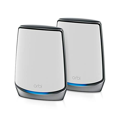 Netgear Orbi Whole Home Tri-Band Mesh WiFi 6 System (RBK852) – Router with 1 Satellite Extender   Coverage up to 5,000 sq. ft. and 60+ Devices   11AX Mesh AX6000 WiFi (Up to 6Gbps)