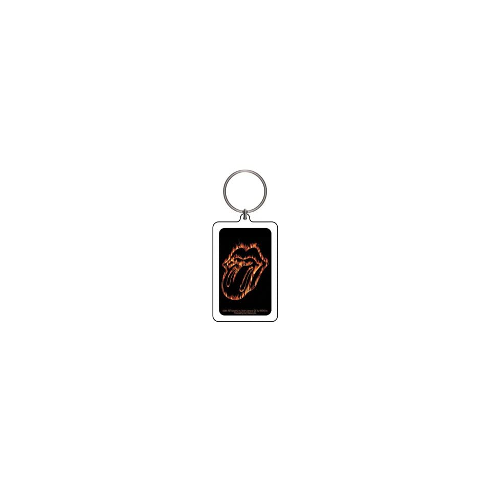 THE ROLLING STONES FLAMING TONGUE LUCITE KEYCHAIN