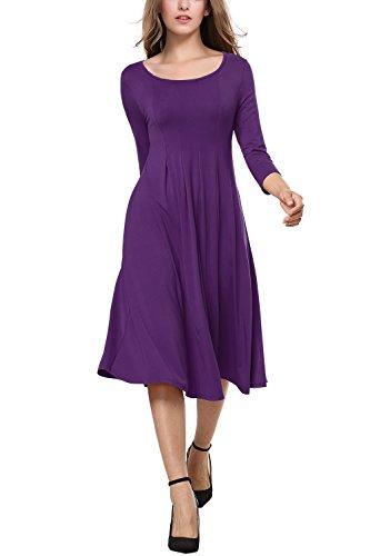 Womens 3/4 Sleeve Dress - 6