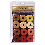 12 Super-lon #18 Cord MIX Ideal for Stringing Beading Crochet and Micro-macram Jewelry Compatible with Kumihimo Projects S-lon Fall Mix