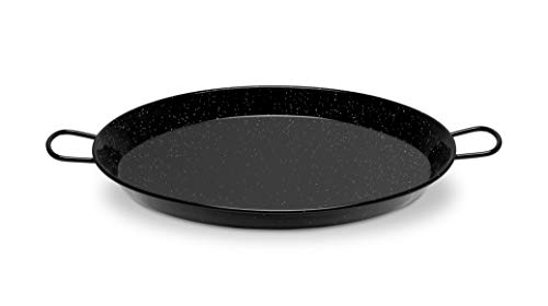 Paella Pan Enamelled Carbon Steel 22 Inches/55cm/up to 16 Servings ()