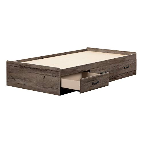 South Shore 11911 Ulysses Twin Mates Bed Fall Oak ()