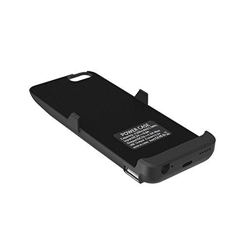 RUNSY iPhone SE Battery scenario 4200mAh Rechargeable Extended Battery Charging scenario for iPhone SE 5S 5 External Battery Charger scenario Backup energy Bank scenario Black Battery Charger Cases