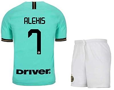 Fimng Alexis Sánchez #7 2019-2020 Inter Milan Men's Away Soccer Jersey/Short Colour Green