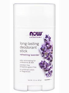 [NOW Foods, DEODORANT STICK LONG LASTING 2.2 OZ] (Zinc Oxide Deodorant)