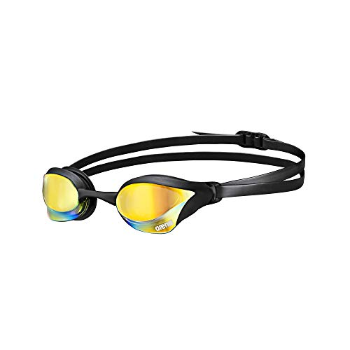 Arena Cobra Core Mirror Swim Goggles Yellow Copper, Black, Black