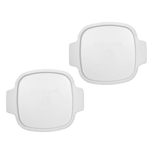 Corningware Stovetop - CorningWare Stovetop A-1-PC 1.5 Quart Square White Plastic Lid - 2 Pack