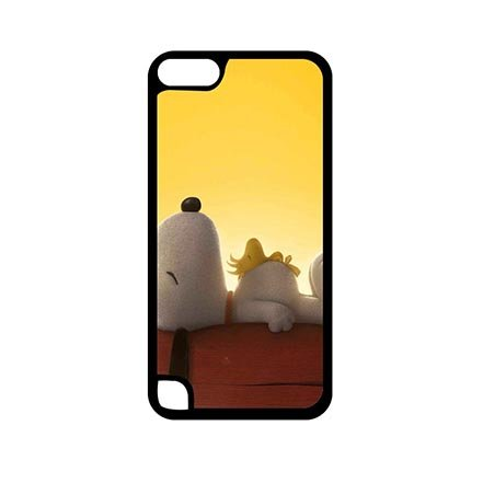 Charming Charlie And Snoopy Protective Black Case For - Ipod 5 Generation Snoopy Case