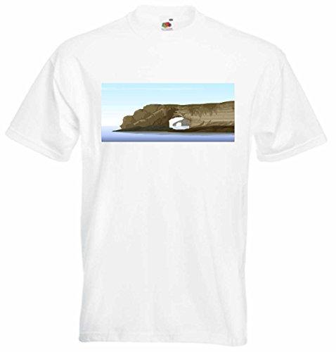 Camiseta D707con multicolor frontprint–Hidden maravillas naturales negro