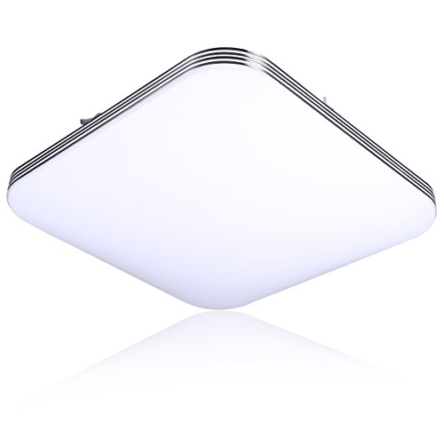 B-right 20W Square LED Flush Mount Ceiling Light, 5000K Cold White, 1400lm Super Bright, 13-Inch by B-right