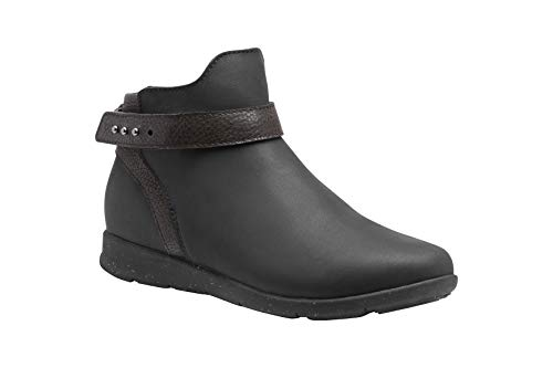 Superfeet Women's Ash Flex Ankle Boot, Black, Leather, Women's 8 US