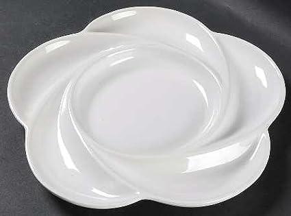Dansk Cafe Blanc Fondue Plate Fine China Dinnerware & Amazon.com | Dansk Cafe Blanc Fondue Plate Fine China Dinnerware ...