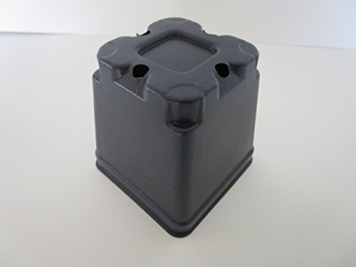 Landmark Plastics 3.5'' Square Plastic Nursery Press Fit Pots By (48) by Landmark Plastics