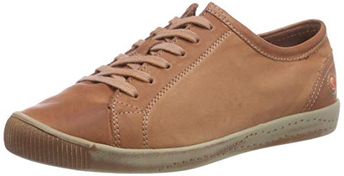 Washed Sneaker Donna Marrone brick Isla Leather Softinos 557 CqnxwTU5