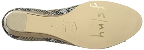 Welcome Sole NY French Pump Wedge Snake FS Natural Women's Iqqdg