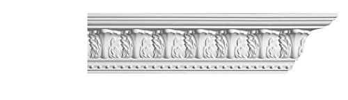 Designer's Edge Millwork DEM-125 Acanthus Crown Moulding 3-3/8 Height x 3
