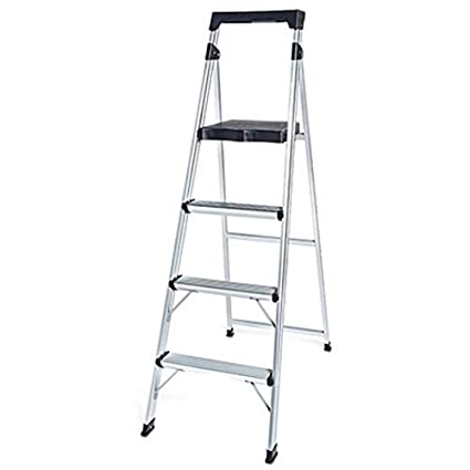Amazing Tricam Industries Tv155871 4 Step Aluminum Step Stool Machost Co Dining Chair Design Ideas Machostcouk