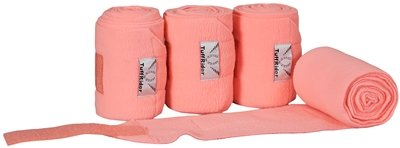 TUFFRIDER Fleece Polo Bandages - NEON PEACH (Polo Bandages)