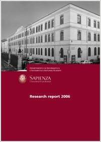 Dipartimento di informatica e sistemistica «Antonio Ruberti», Università di Roma «La Sapienza». Research report 2006