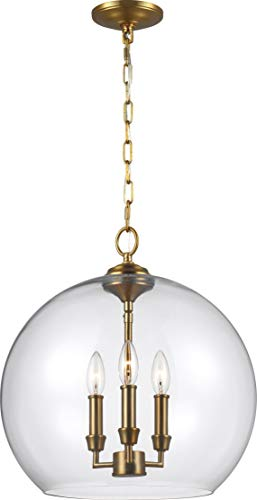 Circular Glass Pendant Light in US - 5