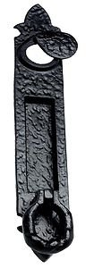 Verticle Letter Plate / Flap with Yale cover & Door Knocker in Black Cast Iron OriginalForgery