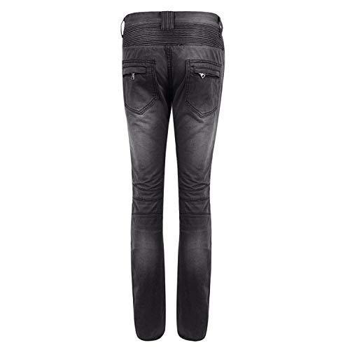 Clásicos Ideal Grau Los Pantalones Estilo Vaqueros Hombres Elástico Hombres del Delgados Denim Joven Mirada Desgastado Motorista Ajuste gw0dqg