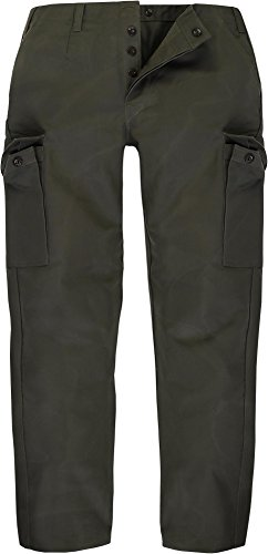 Hard-Wearing Moleskin Trousers German Armed Forces Technical Specification Padded Olive Green Size 2-15 Green olive Size:12 (58)