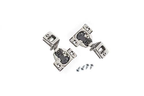 Comet Pro Hardware E55 1-1/4'' Compact Soft Close Face Frame Cabinet Door Hinges Full Overlay Nickel Plated, Screws are Included (40 Pack) by Comet Pro Hardware (Image #6)