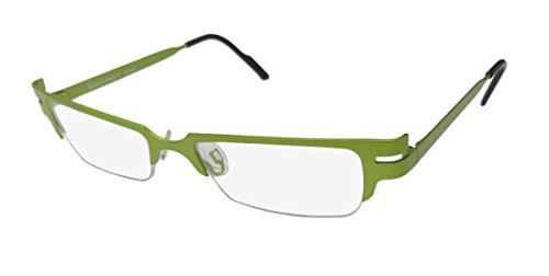 Harry Lary's Scotchy Mens/Womens Designer Half-rim Eyeglasses/Eye Glasses (50-0-0, Hot - Prescription Green Glasses Tinted