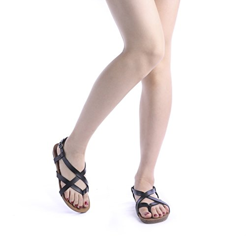 black 01 Slingback Sandals PAIRS DREAM Women's Bold Flat qTH1F