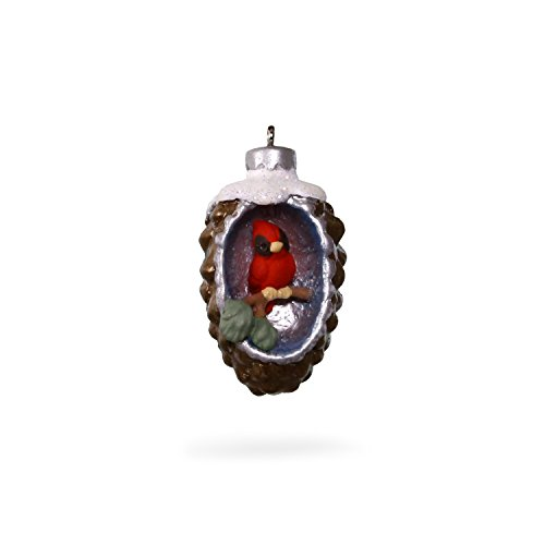 Hallmark Keepsake 2017 A World Within Pinecone With Cardinal Mini Christmas Ornament