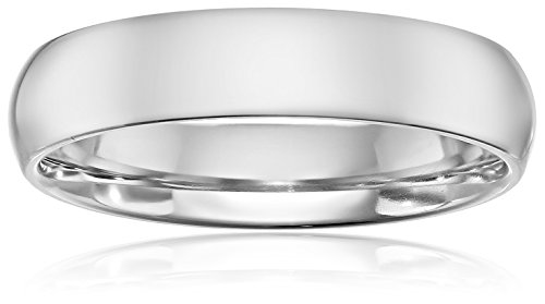 Standard Comfort-Fit Palladium Band, 5mm, Size 8.5 by Amazon Collection