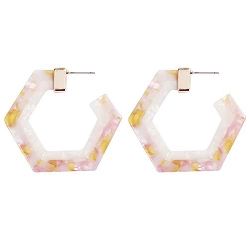 MURTIAL Earrings Fashion Geometric Octagon Hexagon Hoop Earrings for Women Girls Fashion Jewelry