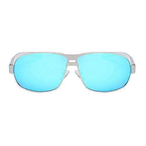 Aoligei Hommes lunettes de soleil classiques lunettes de soleil polarisées brossé couleur Double shing C
