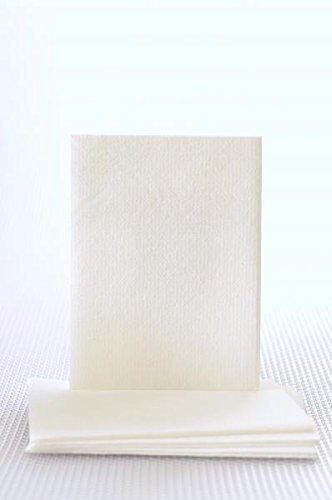 Kerma Disposable Washcloths 12'' x 13'' White Airlaid - Non-Sterile
