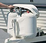 40lb RV Propane LP Gas Cylinder Tank Vinyl Cover Double 40 Lb Polar White (29.5'' High Tanks)