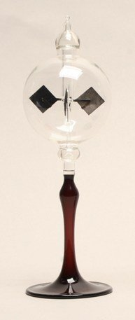 GW Schleidt Home Decor Glass Solar Ornament 3'' Diameter Clear Sphere Radiometer on Purple Tapered Stem by G W Schleidt
