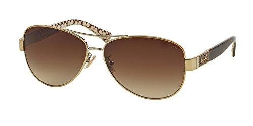 COACH Sunglasses HC 7047 920213 Gold Dark Tortoise Sand