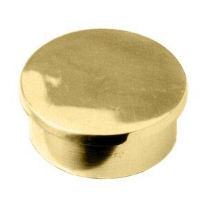Lavi Industries 00-600/2 Polished Brass Flush End Cap 2