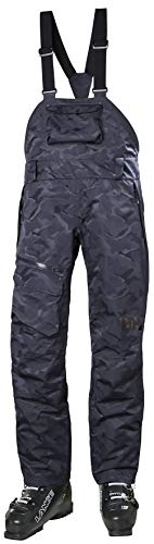 Helly Hansen 65643 Women's Powderqueen Bib Pant, Graphite Blue Camo - XS